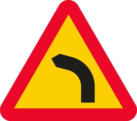 Farlig vänsterkurva EG-N