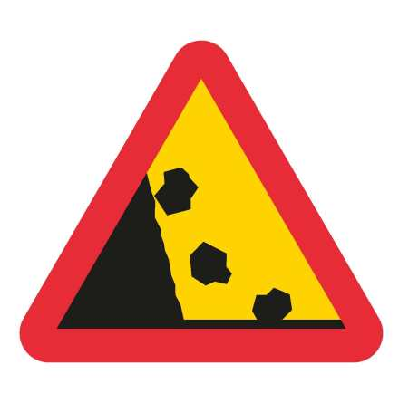 Varning för stenras EG-N (1.1.13.1)
