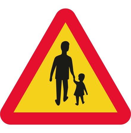 Varning för gående EG-N