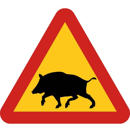 Varning för vildsvin EG-N (1.1.43.7)