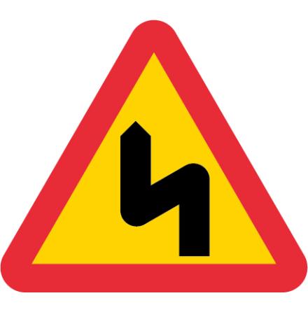 Farliga kurvor med första till vänster EG-N (1.1.1.4)