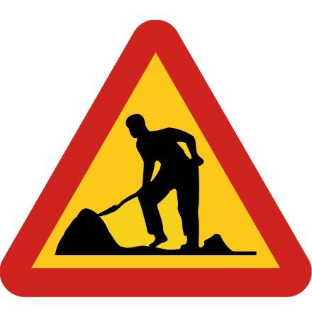 Varning för vägarbete EG-N (1.1.11)