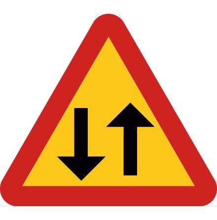 Varning för mötande trafik EG-N (1.1.52)
