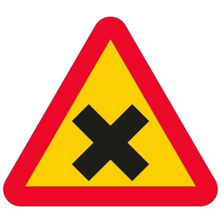Varning för vägkorsning EG-N (1.1.20)