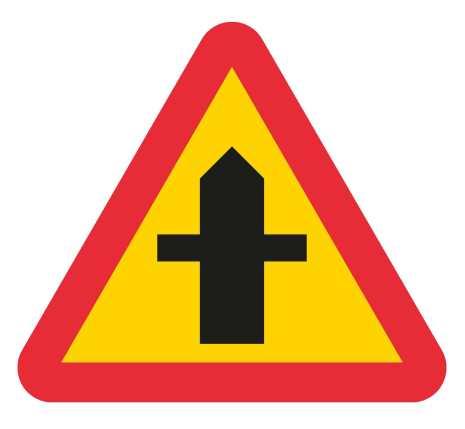 Varning för vägkorsning EG-N (1.1.22.1)