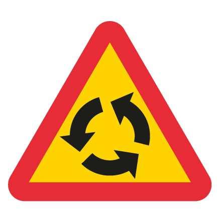 Varning för cirkulationsplats EG-N (1.1.21)