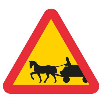 Förspänt dragdjur häst EG-N