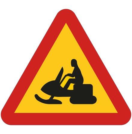Varning för skotertrafik EG-N