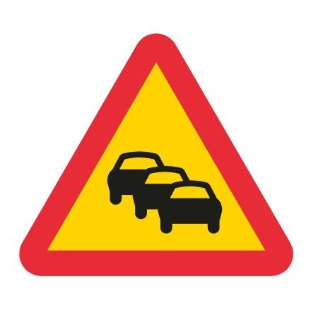 Varning för kö EG-N