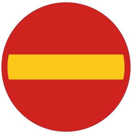 Förbud mot infart med fordon - Förbudsskylt