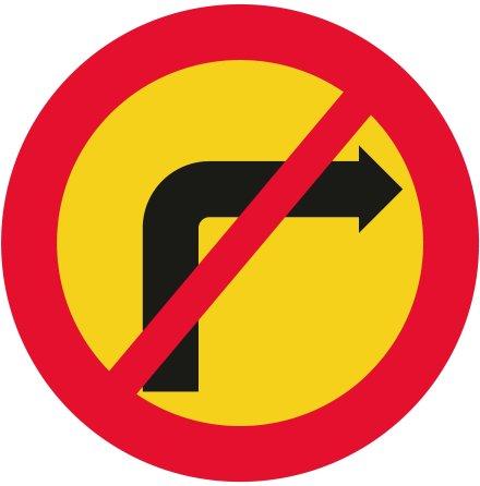 Förbud mot sväng i korsning