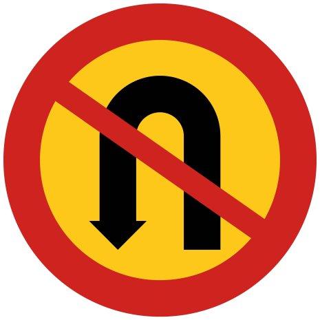 Förbud mot U-sväng
