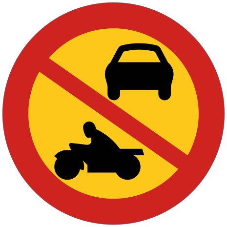 Förbud mot motortrafik utom moped klass II