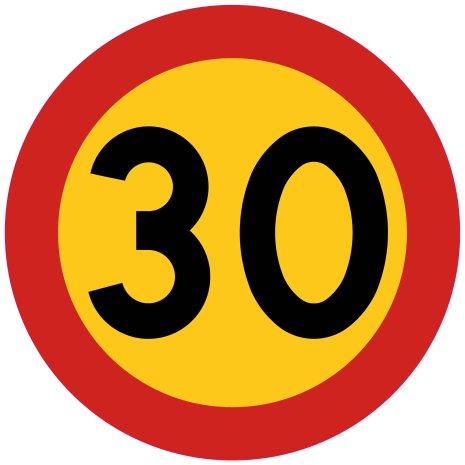 Hastighetsbegränsning 30 kmh