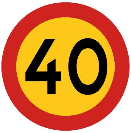 Hastighetsbegränsning 40 kmh