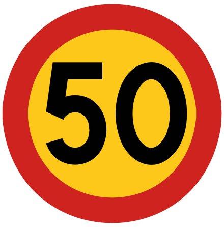 Hastighetsbegränsning 50 kmh