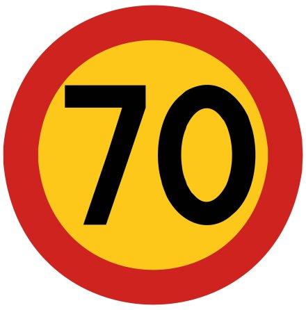 Hastighetsbegränsning 70 kmh