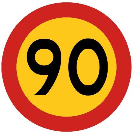 Hastighetsbegränsning 90 kmh