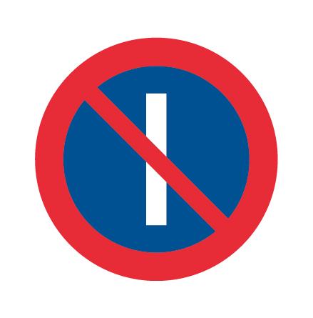 Förbud att parkera udda dagar - Förbudsskylt