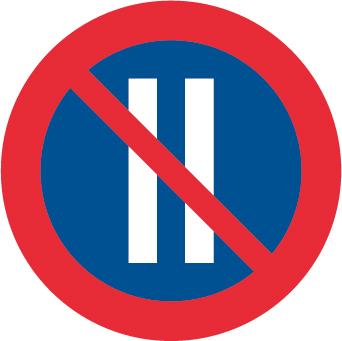 Förbud att parkera jämna dagar - Förbudsskylt