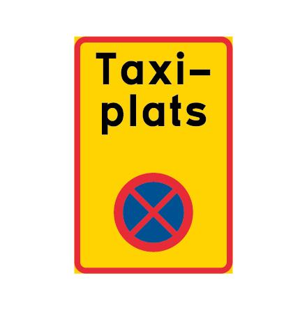 Ändamålsplats - taxi, N-EG - Förbudsskylt