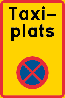 Ändamålsplats - taxi, N-EG