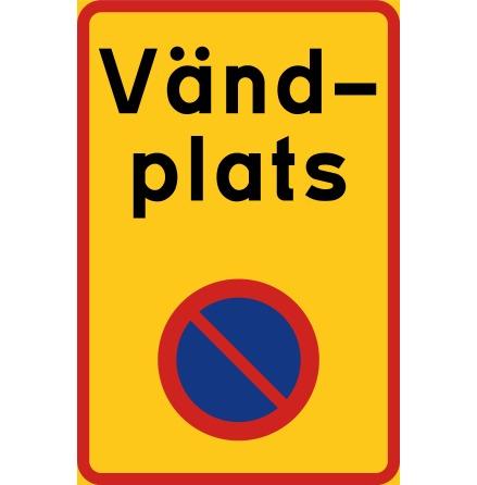 Vändplats N-EG (förbud parkera) - Förbudsskylt