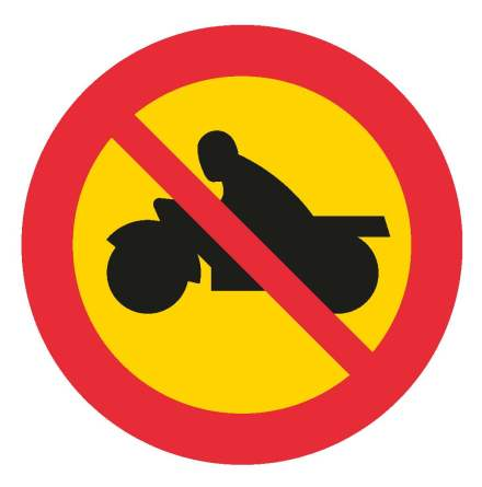 Förbud mc & moped klass 1 EG-N (1.2.5)