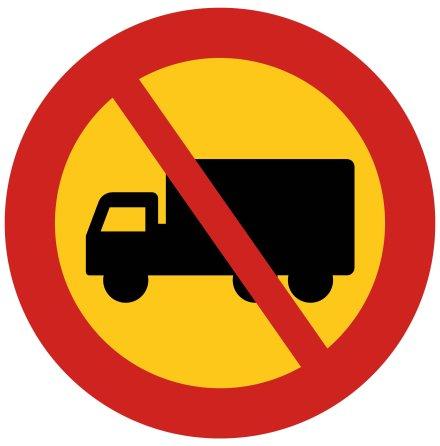 Förbud tung lastbil EG-N (1.2.7)