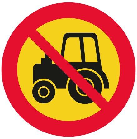 Förbud traktor klass 2 EG-N (1.2.8)
