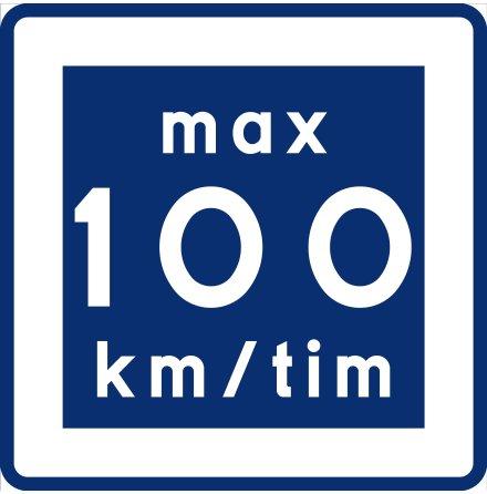 E11-10 Rekommenderad lägre hastighet