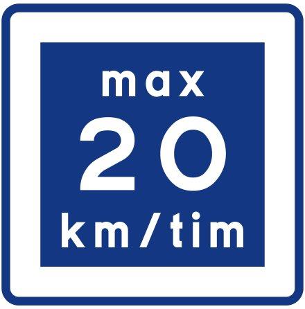 E11-2 Rekommenderad lägre hastighet