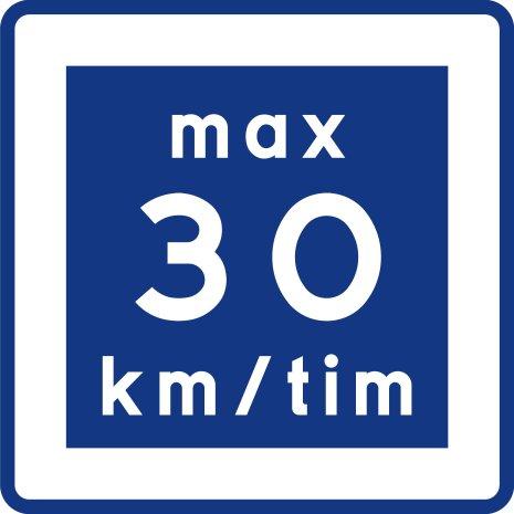 E11-3 Rekommenderad lägre hastighet 30