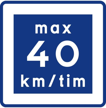 E11-4 Rekommenderad lägre hastighet