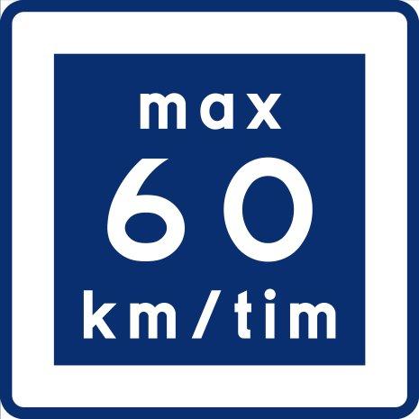 E11-6 Rekommenderad lägre hastighet