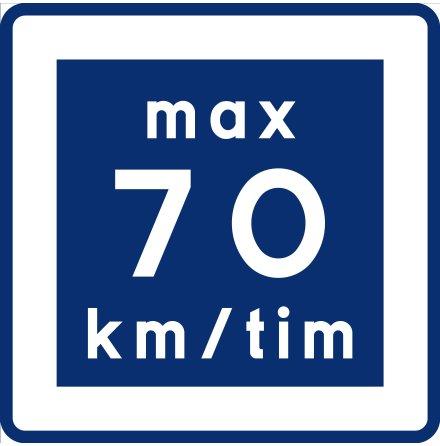 E11-7 Rekommenderad lägre hastighet