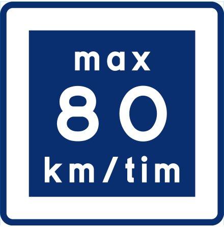 E11-8 Rekommenderad lägre hastighet