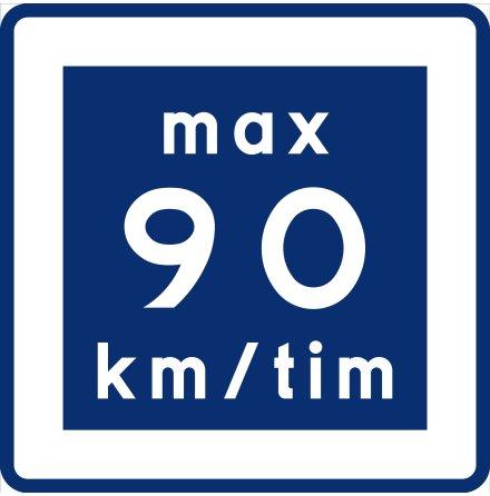E11-9 Rekommenderad lägre hastighet