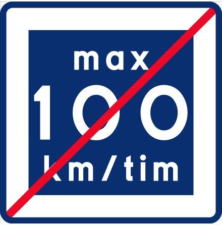 E12-10 Rekommenderad lägre hastighet upphör