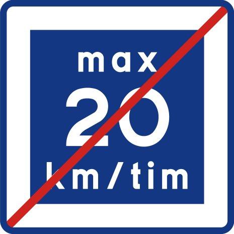 E12-2 Rekommenderad lägre hastighet upphör