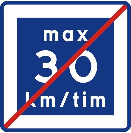 E12-3 Rekommenderad lägre hastighet upphör