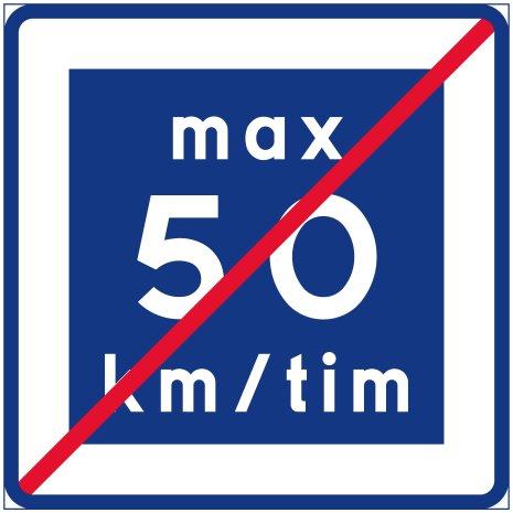 E12-5 Rekommenderad lägre hastighet upphör