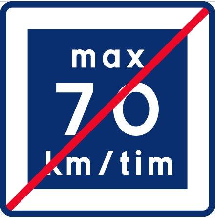 E12-7 Rekommenderad lägre hastighet upphör