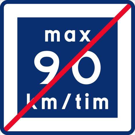 E12-9 Rekommenderad lägre hastighet upphör