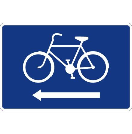 Cykelledsskylt, pil vänster