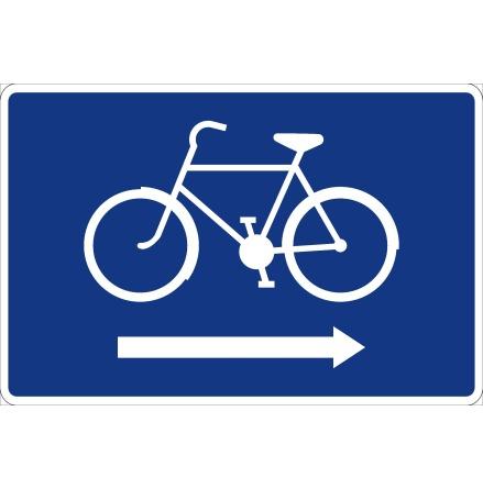 Cykelledsskylt, pil höger