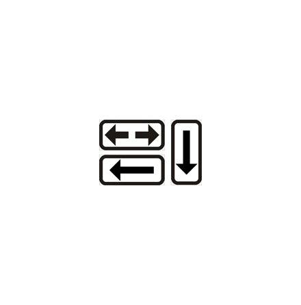 Utsträckning, enkelpil - T11-3
