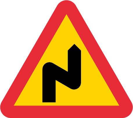 Farliga kurvor med första till höger EG-N