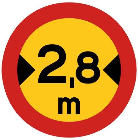 Begränsad fordonsbredd