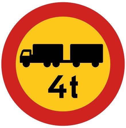 Begränsad bruttovikt på fordon och fordonståg